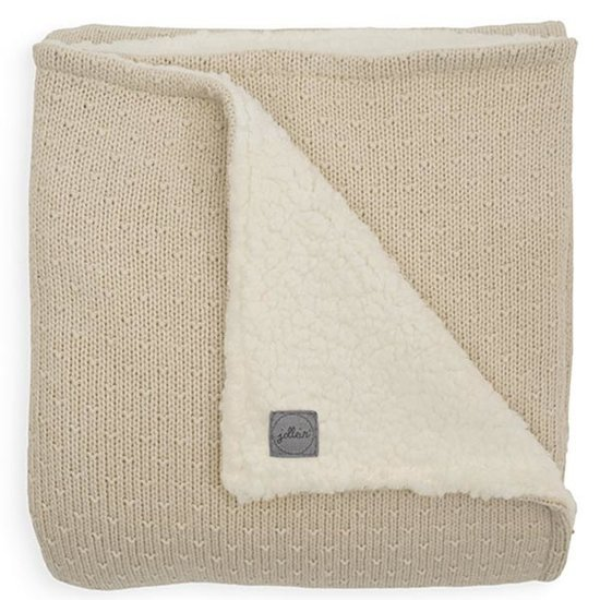Jollein Jollein deken teddy 75x100cm Bliss knit nougat