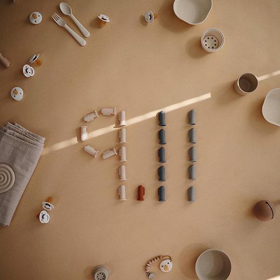 Mushie Mushie vork en lepel - Ivory