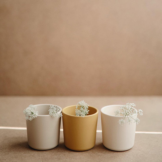 Mushie Mushie drinkbekers set van 2 - Mustard