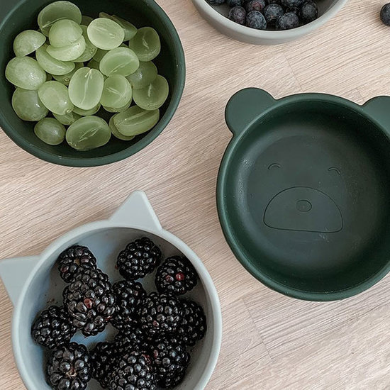 Liewood Liewood Iggy silicone bowls 4 pack - hunter green mix