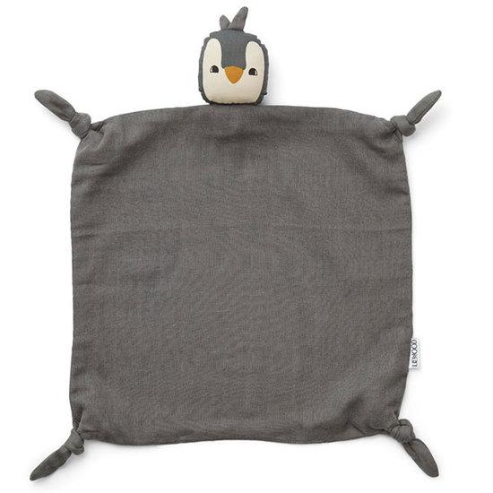 Liewood Knuffeldoekje Penguin Stone grey - Liewood