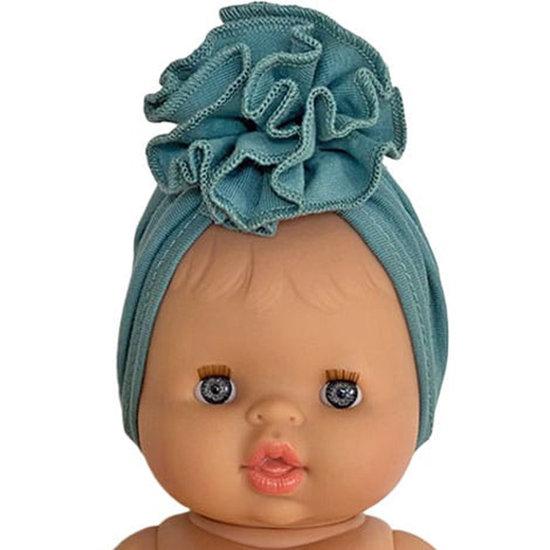 Minikane Headband turban Fleur turquoise - Minikane