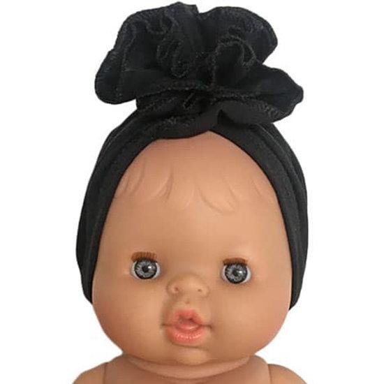 Minikane Headband turban Fleur black - Minikane