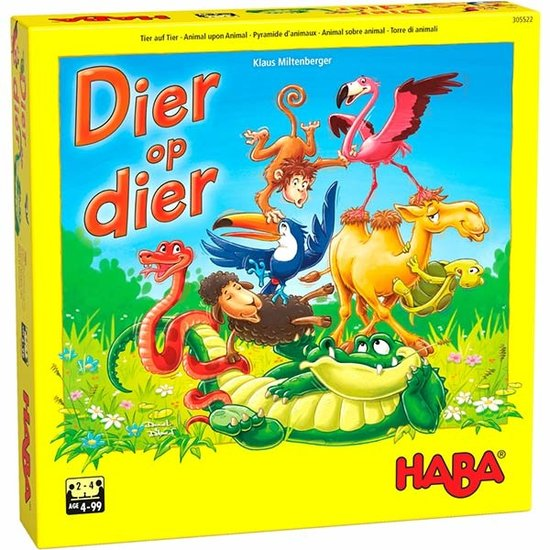Haba Haba Dier op dier – Het wankele stapelspel