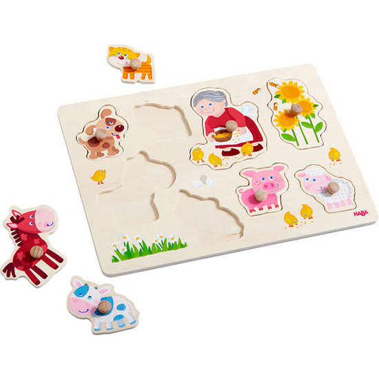 Haba Haba clutching Puzzle Granny Lena's animals