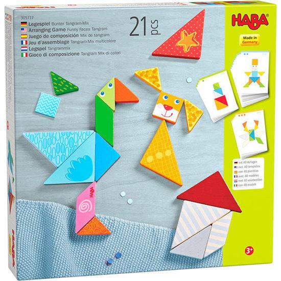Haba Haba legspel Kleurrijke Tangrammix