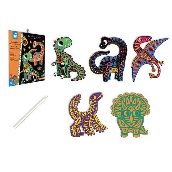 Janod speelgoed Janod kraskaarten dinos