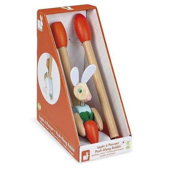 Janod speelgoed Janod push along rabbit