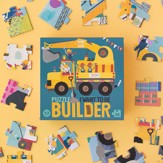 Londji Londji puzzel I want to be a builder 36st +3jr