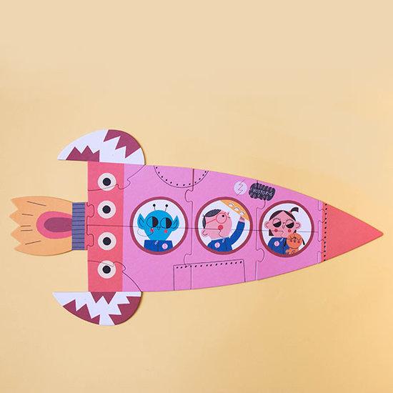 Londji Londji puzzel Valentina in space 2, 3, 4, 5, 10st