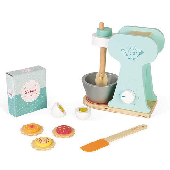Janod speelgoed Janod Spielzeug Mixer mit Konditorei-Zubehör