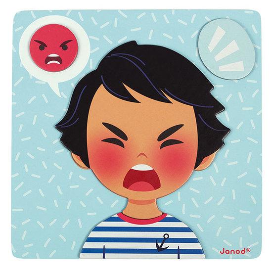 Janod speelgoed Janod Magnetishes Lernspiel Emotionen +2Jahre