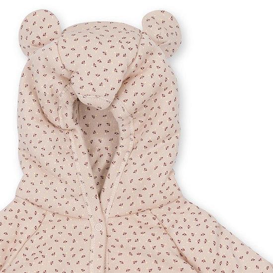 Konges Slojd Konges Slojd onesie met kap Tiny Clover rose