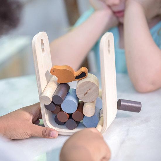 Plan Toys Beverspel - Timber Tumble - Plan Toys +3jr