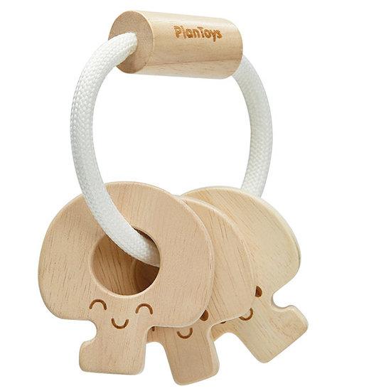 Plan Toys Plan Toys Schlüssel-Rassel Natural +4M