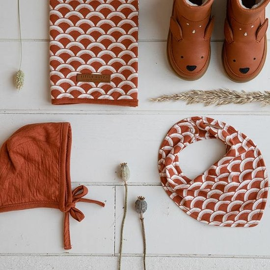Little Dutch Little Dutch bandana bib - Sunrise Rust