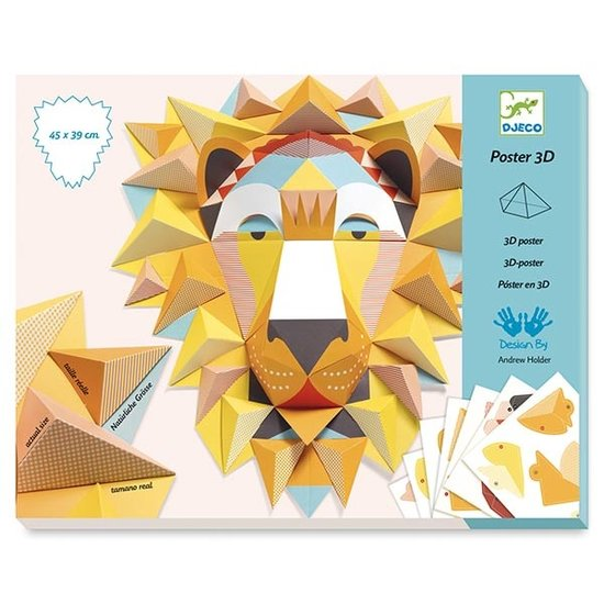 Djeco Djeco knutselpakket 3D poster - The King