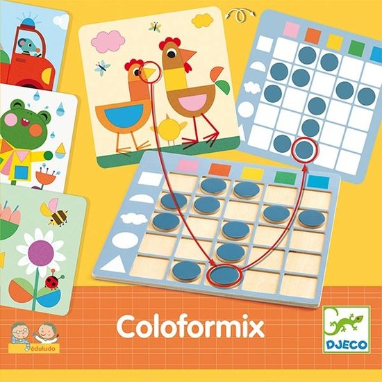 Djeco Djeco bordspel Coloformix kleuren en vormen +3jr