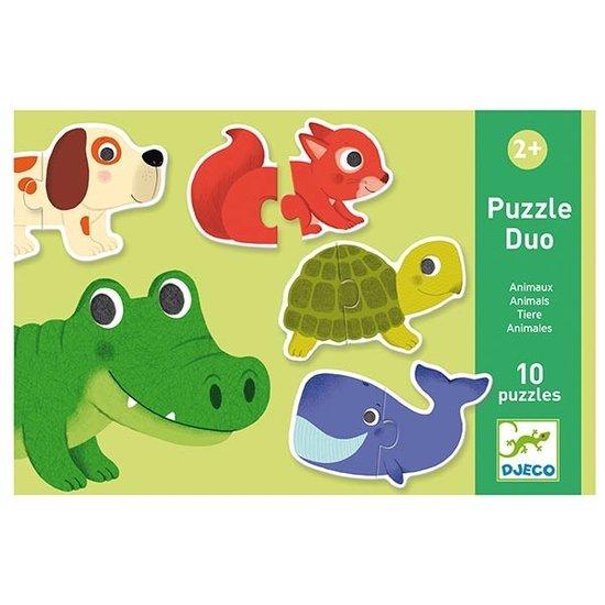 Djeco Djeco puzzle duo animals 10x 2pcs