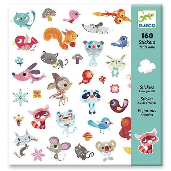 Djeco Djeco stickers little friends 160 pieces