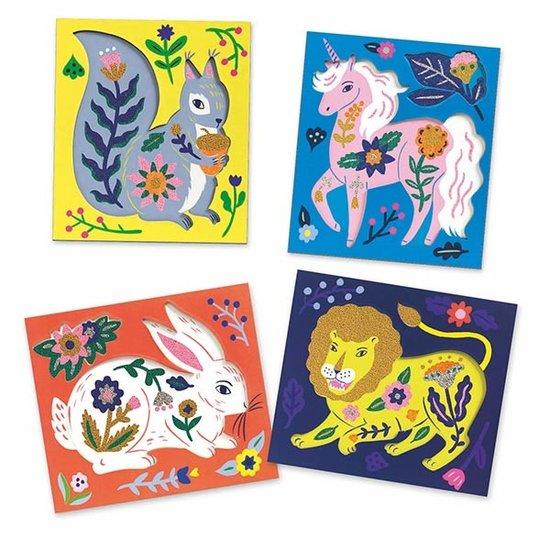 Djeco Djeco knutselpakket Artistic Beads bloemen-dieren