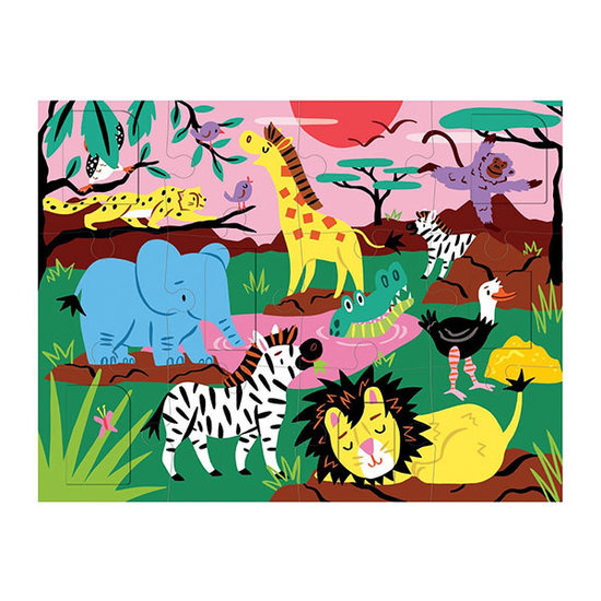 Mudpuppy Mudpuppy flapjespuzzel Op safari 12st