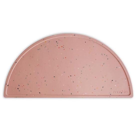Mushie Mushie siliconen placemat Confetti pink powder
