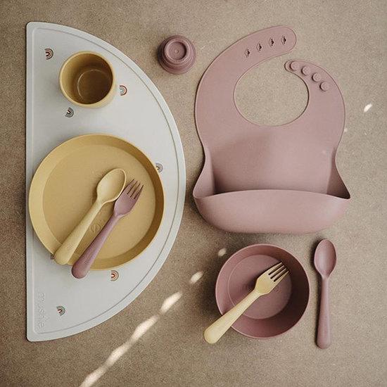 Mushie Mushie Silikon Lätzchen Confetti pink powder