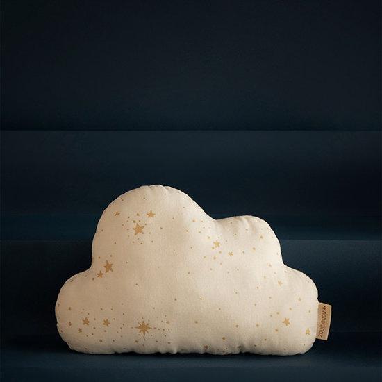 Nobodinoz tipi en accessoires Nobodinoz Cloud cushion Gold Stella - White