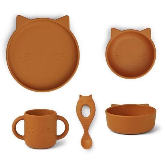 Liewood Liewood Vivi silicone servies Cat mustard