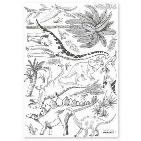 Lilipinso Muurstickers Dinosaurs and Plants - Lilipinso