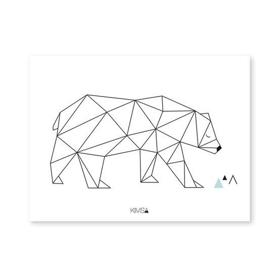 Lilipinso Poster Bär geometrisch - Lilipinso