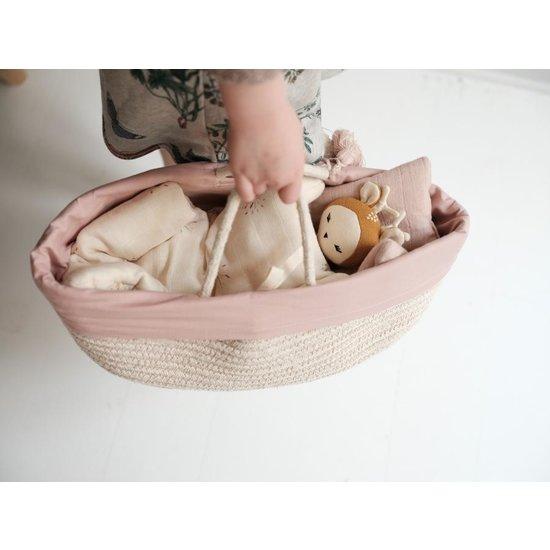 Fabelab Dolls cot Mauve 35 cm - Fabelab