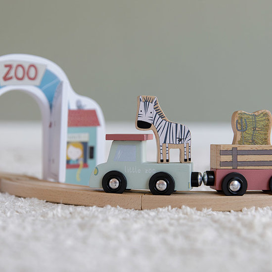 Little Dutch Little Dutch Holzeisenbahn Erweiterung - Zoo