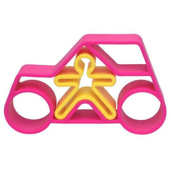 Dëna Dëna speelset Car + Kid Pink Neon 2-delig