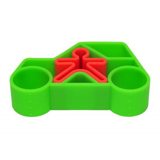 Dëna Dëna Spielset Car + Kid Green Neon 2-Teilig