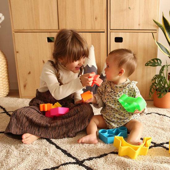 Dëna Dëna speelset Car + Kid Blue Neon 2-delig