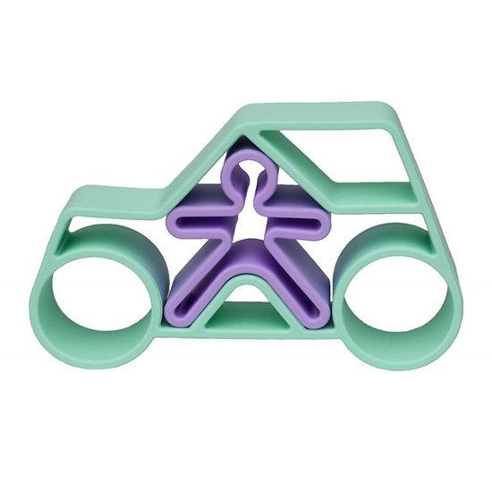 Dëna Dëna speelset Car + Kid Green Pastel 2-delig