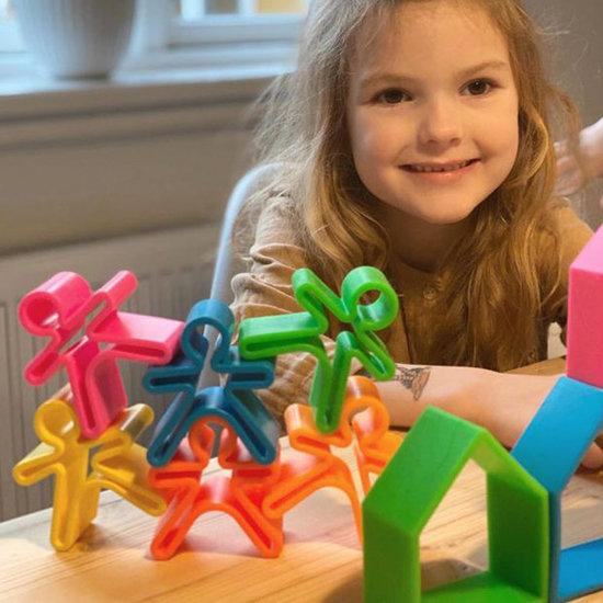 Dëna Dëna speelgoed popjes Kids Neon 6-delig