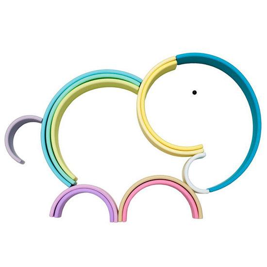 Dëna Dëna speelgoed regenboog Pastel 12-delig