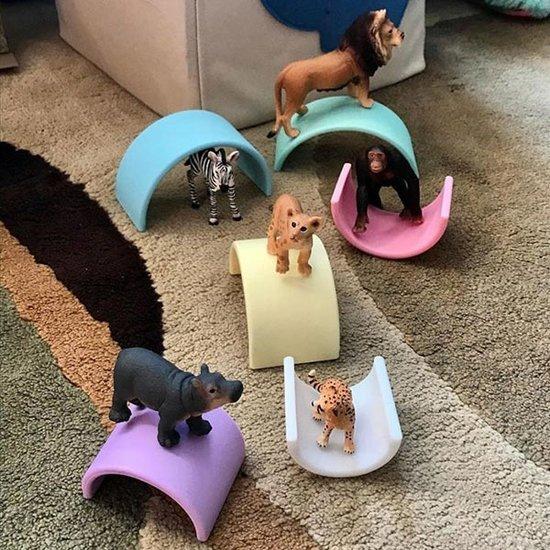 Dëna Dëna speelgoed regenboog Pastel 6-delig