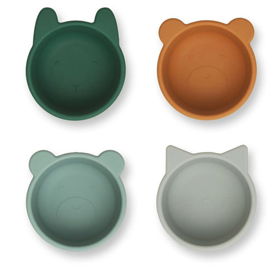 Liewood Liewood Malene silicone bowls Green multi mix 4 pc