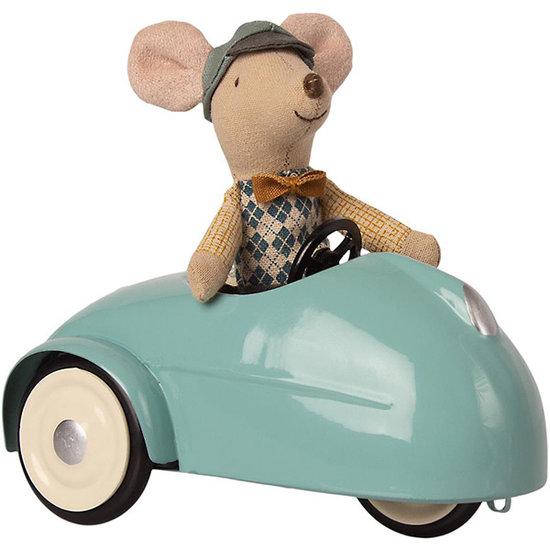 Maileg Maileg Maus mit Auto und Garage - blau