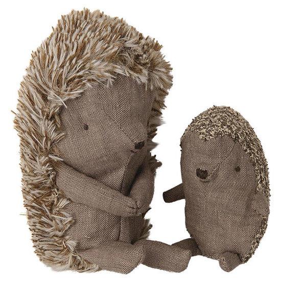 Maileg Maileg hedgehog in leaf