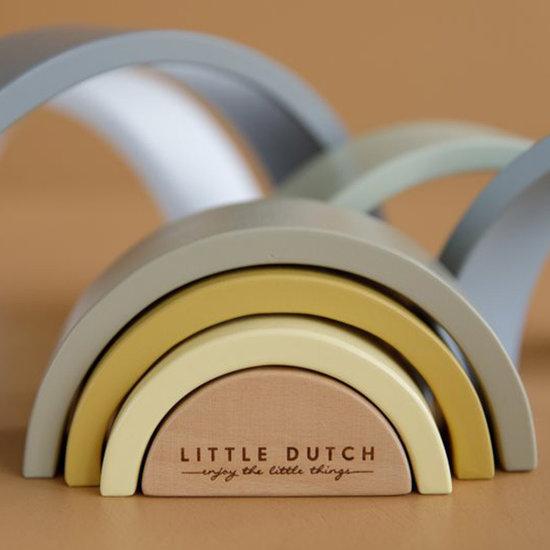Little Dutch Little Dutch houten regenboog blue +12M