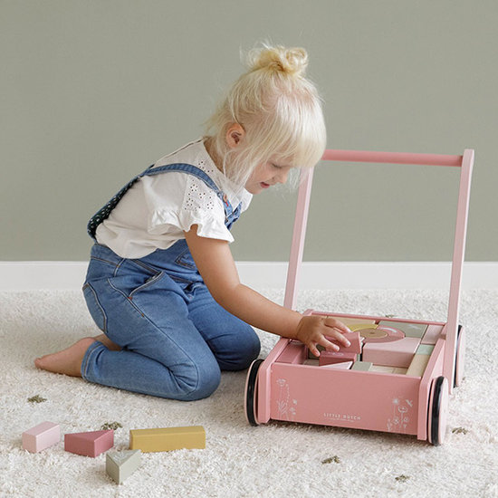 Little Dutch Little Dutch baby walker with blocks Wild Flowers