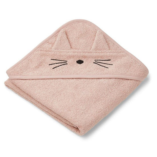 Liewood Baby towel Albert Cat rose 70cm - Liewood