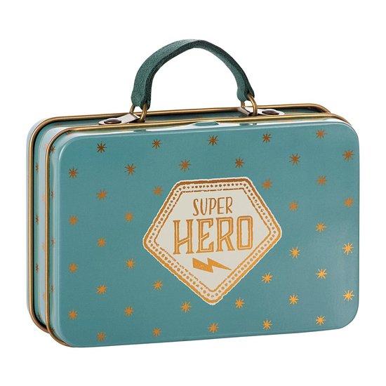 Maileg Maileg metalen koffer Blue Gold stars