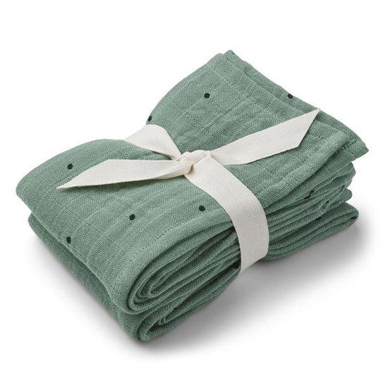 Liewood Liewood muslin cloths Classic dot peppermint 2pc 70cm