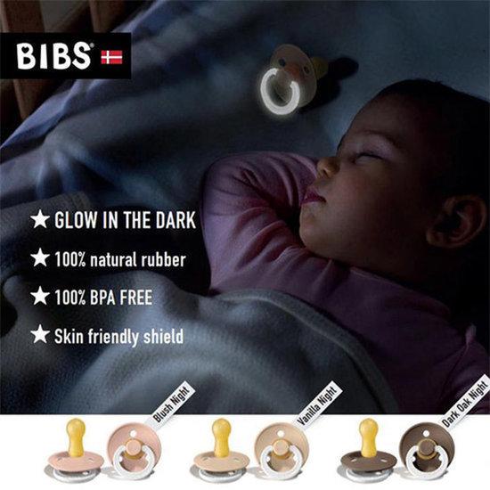 Bibs Fopspeen Glow in the dark Vanilla - Bibs